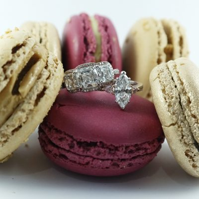 diamond engagement rings macarons